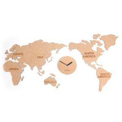 World Map Clock (Natural-세계지도시계)