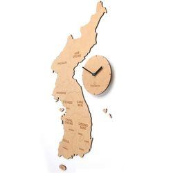 Korea Map Clock (Natural-우리나라지도시계)