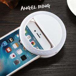 엔젤링 뽀샤시 LED셀카조명 휴대폰조명