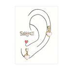 [smooch] Pink Heart Earring