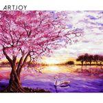 아트조이 DIY 명화그리기 벚꽃 호수