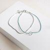 silver two ways mint bracelet