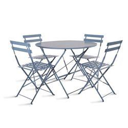 [Garden]Rive Droite Bistro Set of Table and 4 Chai
