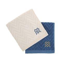 BAMBOO TOWEL (S) 5P SET-DEEPBLUE