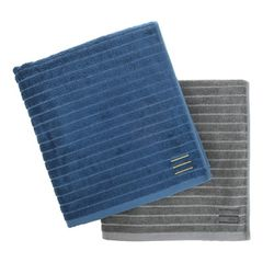 BAMBOO TOWEL (L) 5P SET-DEEP BLUE