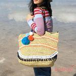 solar pompom basket bag 솔라 폼폼 바스켓 백