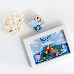 제주 미니 퍼즐108p (블루)