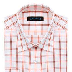 일반]수체화체크 오렌지 셔츠
