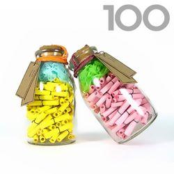 타임캡슐편지 100일 핑크앤 옐로우 유리병편지