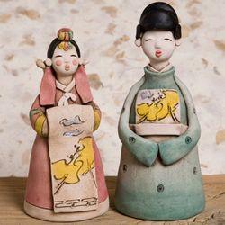 한국전통 신랑신부 (대) 2p 세트