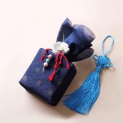 전통 삼베 포장천 [감청색]