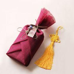 전통 삼베 포장천 [자주색]