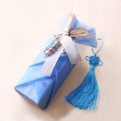 전통 삼베 포장천 [천청색]