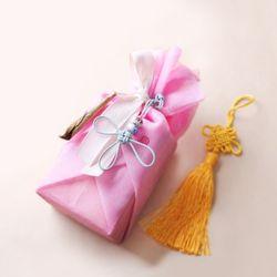 전통 삼베 포장천 [연분홍색]