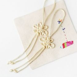 설백색 매듭끈 (2개)