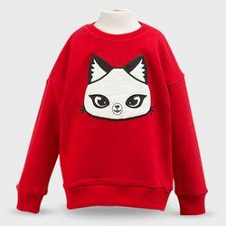 판다캣 맨투맨 티셔츠 (Red) 4세용