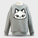 판다캣 맨투맨 티셔츠(Gray) 4세용
