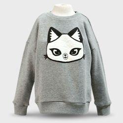 판다캣 맨투맨 티셔츠(Gray) 6세용
