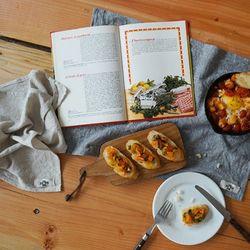 린넨 코티지 키친크로스: Linen cottage kitchencloth
