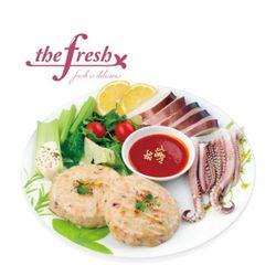 더프레시 오징어 닭가슴살 스테이크 100g
