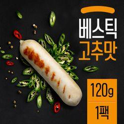 베스틱 닭가슴살 소시지 고추맛 120g