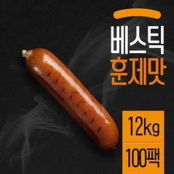 베스틱 닭가슴살 소시지 훈제맛 120gX100팩(12kg)