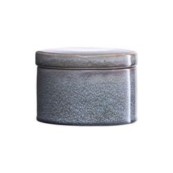 [House]Jar w lid Croz grey dia14cm 스토리지