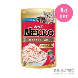 네코 참치토핑 게맛살 파우치 70g x6개(set)