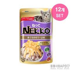 네코 참치토핑 치즈 파우치 70g x12개(set)