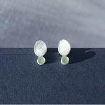 꿈의 달빛정원- 문스톤과 페리도트 silver earring