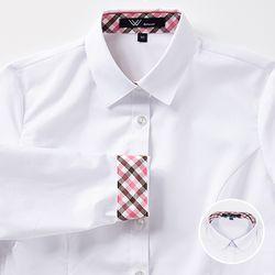 교복왕 여자 교복셔츠[블라우스] 체리브라운