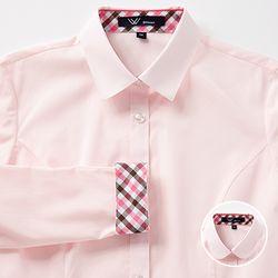 교복왕 여자 교복셔츠[핑크 블라우스] 체리브라운