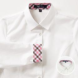 교복왕 여자 교복셔츠[아이보리 블라우스] 체리브라운