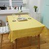 모던도트 면식탁보 - 옐로우 4인용