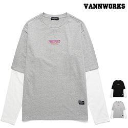 밴웍스 LAYERED FREESPIRIT 프린트 티셔츠(VNAFTS312)