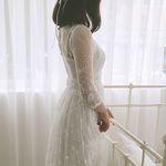 빈티지 레이스 셀프웨딩 드레스
