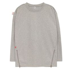 Point Zip T-shirts (gray)