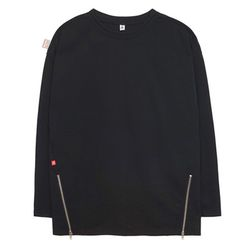 Point Zip T-shirts (black)