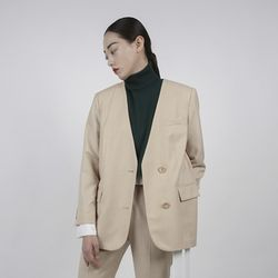 NO COLLAR BEIGE JACKET