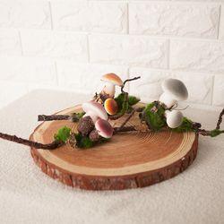 버섯 (3색상) 모조채소 모형채소