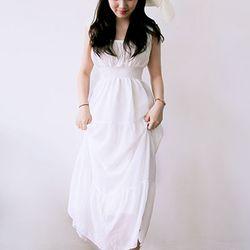 허니문 비치 셀프웨딩 드레스