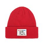 Patch Point Beanie (red)