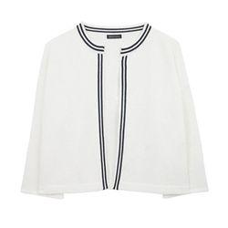 Basic Classic Cardigan (white)