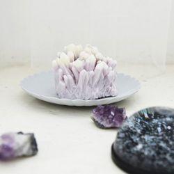 gemstone candle - amethyst