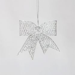 실버 입체 리본 13cm 크리스마스트리장식