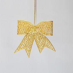 골드 입체 리본 13cm 크리스마스트리장식