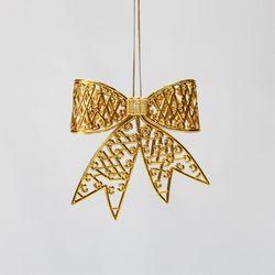 골드 입체 리본 11cm 크리스마스트리장식