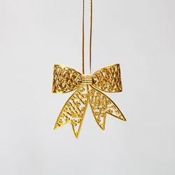 골드 입체 리본 7cm (2개입) 크리스마스트리장식