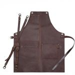 Brown real cow leather