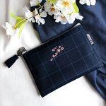 태슬포함 D.LAB NY Pouch - 벚꽃나무 NAVY_b